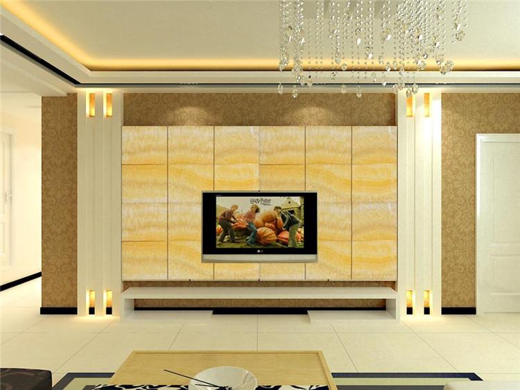 所以需要根据客厅的装修风格和家具的选择样式来选择电视背景墙材料.