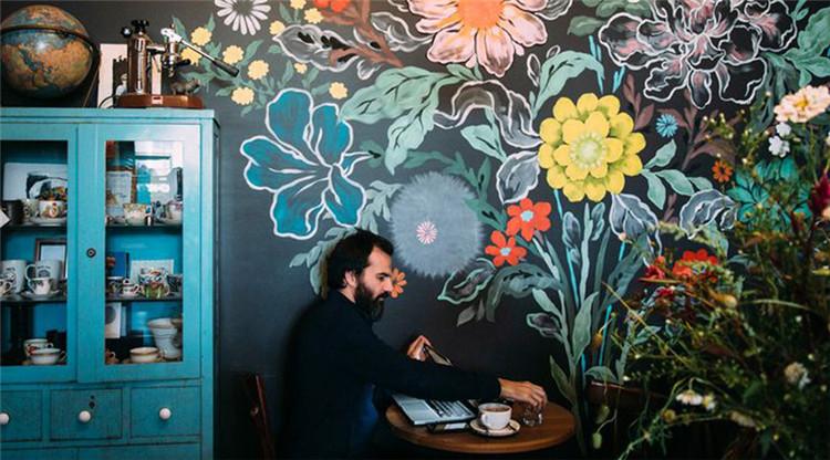墙绘图片素材小清新